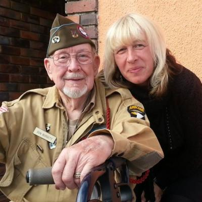 Me with Don Burgett, WWII veteran and author